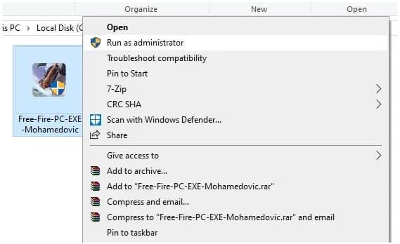 تثبيت لعبة Free Fire PC على الكمبيوتر