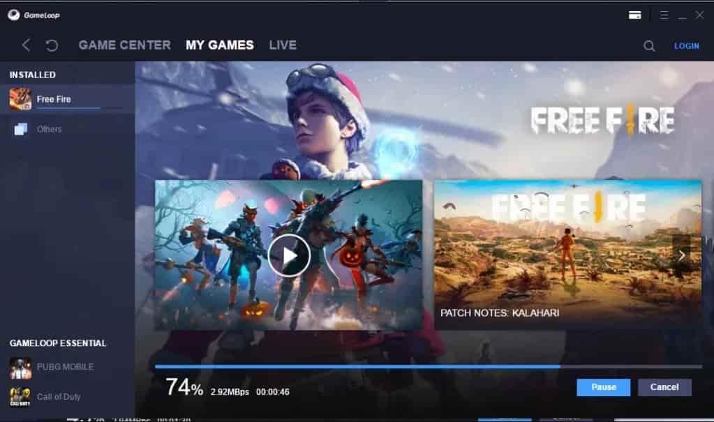 لعبة فري فاير Free Fire للكمبيوتر